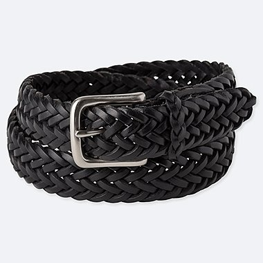 MEN LEATHER WOVEN BELT