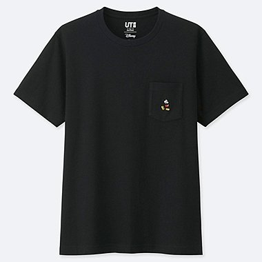 MICKEY STANDS POCKET SHORT-SLEEVE T-SHIRT, BLACK, medium