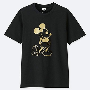 MICKEY STANDS SHORT-SLEEVE GRAPHIC T-SHIRT, BLACK, medium