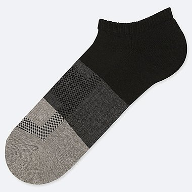 MEN PILE COLORBLOCK SHORT SOCKS, BLACK, medium