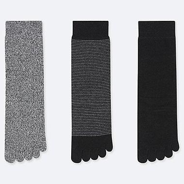 WOMEN TOE CALF SOCKS (3 PAIRS) (ONLINE EXCLUSIVE), BLACK, medium