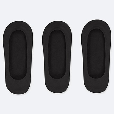 WOMEN SHEER NO-SHOW SHOE LINERS (THREE PAIRS)