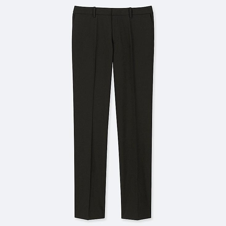 WOMEN STRETCH PANTS (ONLINE EXCLUSIVE), BLACK, large