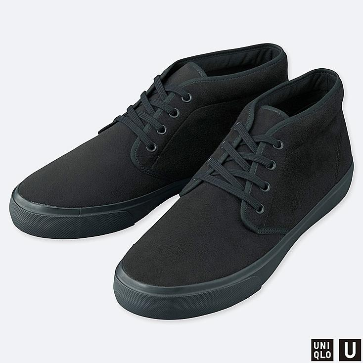 U CHUKKA SNEAKERS, BLACK, large