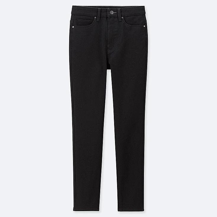 WOMEN HIGH-RISE ULTRA STRETCH ANKLE JEANS, BLACK, large