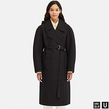 WOMEN UNIQLO U BLOCKTECH BELTED TRENCH COAT