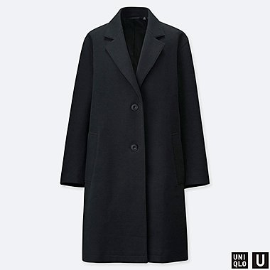 WOMEN UNIQLO U DOUBLE FACED COAT f54b5d328