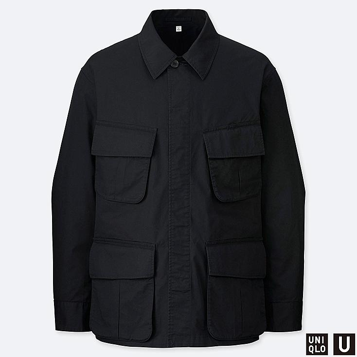 MEN U FATIGUE JACKET, BLACK, large