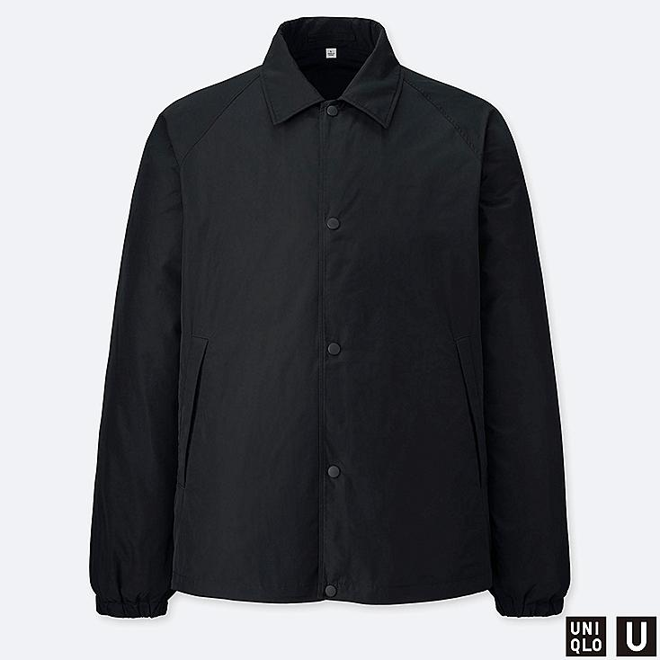 MEN U POCKETABLE COACH JACKET, BLACK, large