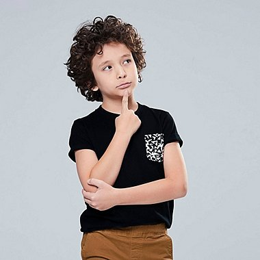 KIDS SUPER GEOMETRIC GEORGE SOWDEN SHORT-SLEEVE T-SHIRT, BLACK, medium