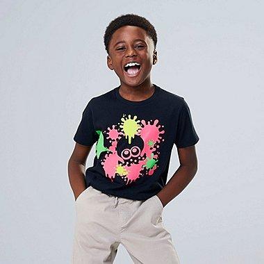 KIDS SPLATOON UT (SHORT-SLEEVE GRAPHIC T-SHIRT), BLACK, medium