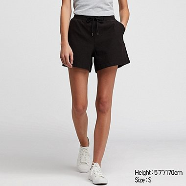 women denim jersey shorts