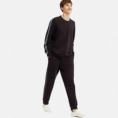 MEN ULTRA STRETCH LONG-SLEEVE SWEAT SET (ONLINE EXCLUSIVE), BLACK, medium