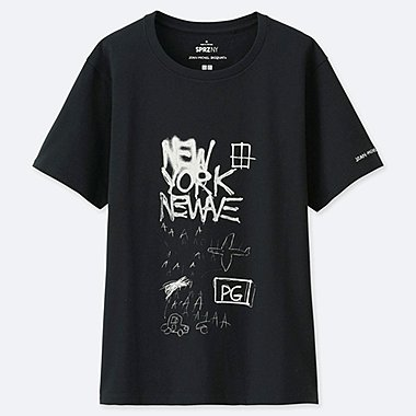 WOMEN SPRZ NY SHORT-SLEEVE GRAPHIC T-SHIRT (JEAN-MICHEL BASQUIAT), BLACK, medium