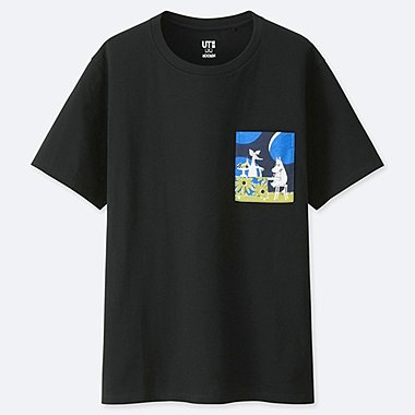 WOMEN MOOMIN UT (SHORT-SLEEVE GRAPHIC T-SHIRT), BLACK, medium