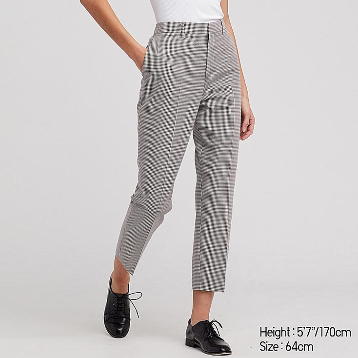 WOMEN EASY CARE STRETCH CROPPED PANTS (ONLINE EXCLUSIVE), BLACK, large
