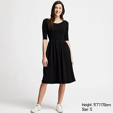 DAMEN GERIPPTES 3D-STRICKKLEID