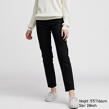 WOMEN HIGH-RISE CIGARETTE JEANS, BLACK, medium