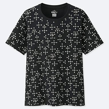 WOMEN SPRZ NY SHORT-SLEEVE GRAPHIC T-SHIRT (EAMES), BLACK, medium