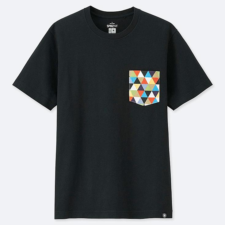 SPRZ NY SHORT-SLEEVE GRAPHIC T-SHIRT (EAMES), BLACK, large