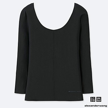 WOMEN ALEXANDER WANG AIRSIM CREW NECK LONG SLEEVED T-SHIRT