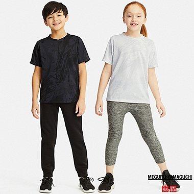 KIDS DRY-EX MEGURU YAMAGUCHI CREW NECK T-SHIRT, BLACK, medium