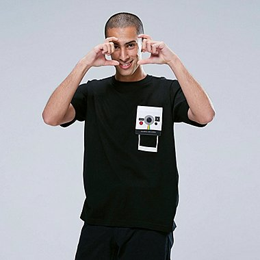 THE BRANDS Masterpiece SHORT-SLEEVE GRAPHIC T-SHIRT (POLAROID), BLACK, medium