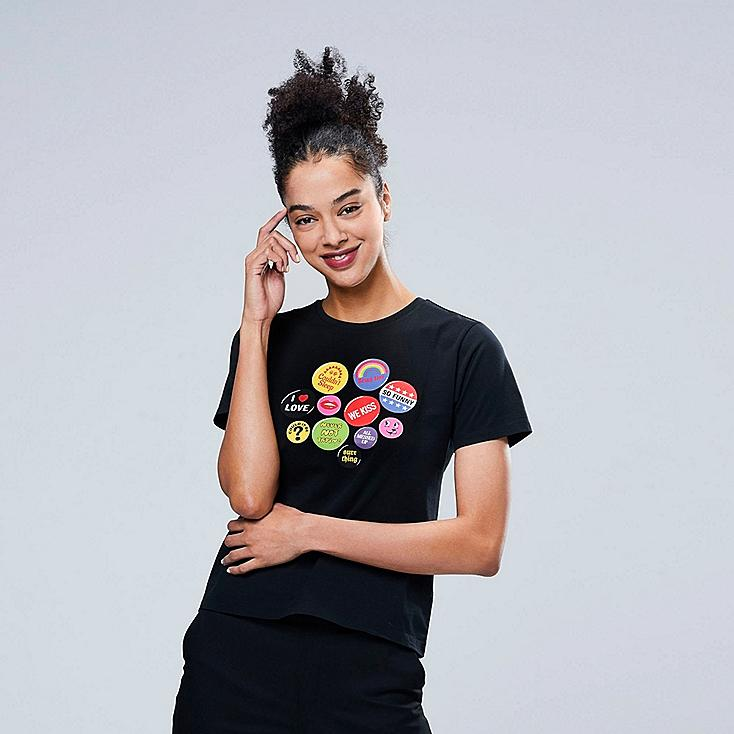 WOMEN MIRANDA JULY UT (SHORT-SLEEVE GRAPHIC T-SHIRT), BLACK, large