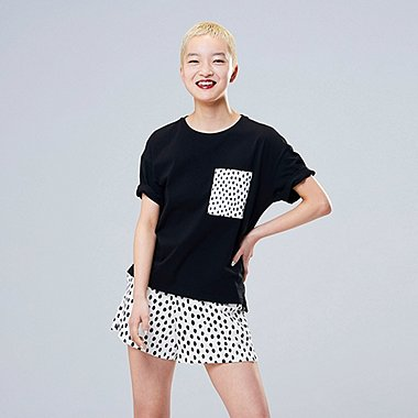 WOMEN SCANDINAVIAN UT (SHORT-SLEEVE GRAPHIC T-SHIRT), BLACK, medium