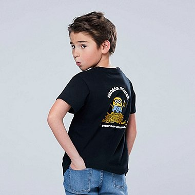 KIDS MINIONS SHORT SLEEVED GRAPHIC PRINT T-SHIRT