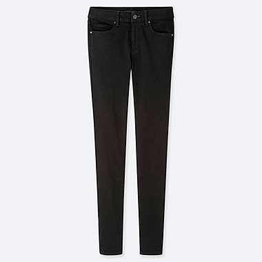 WOMEN ULTRA STRETCH JEANS (EXTENDED LENGTH) (ONLINE EXCLUSIVE), BLACK, medium