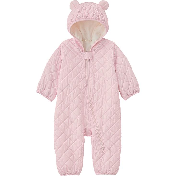 BABY BODY WARM LITE LONG SLEEVE ONE PIECE OUTFIT, PINK, large