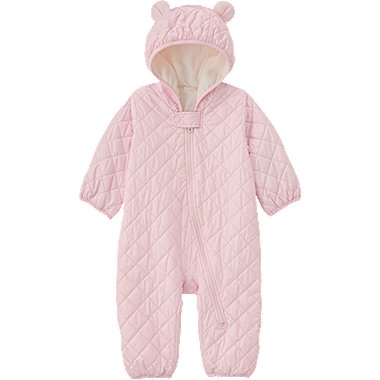 BABY BODY WARM LITE LONG SLEEVE ONE PIECE OUTFIT, PINK, medium
