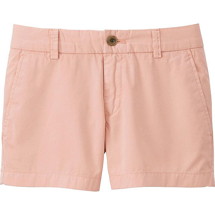 Women Chino Micro Shorts, PINK, large