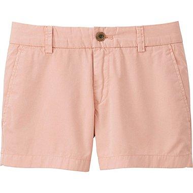 Women Chino Micro Shorts, PINK, medium