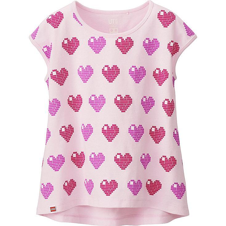 GIRLS LEGO® Graphic T-Shirt, PINK, large