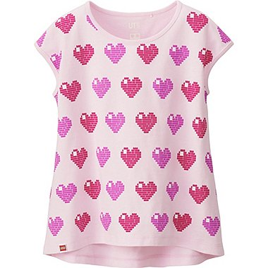 Girls LEGO® Graphic Tee, PINK, medium