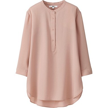 DAMEN Easy Care Bluse Stehkragen Aus Silk Touch