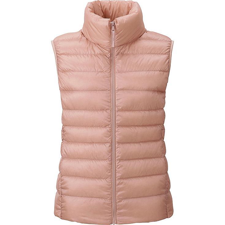 Women's Ultra Light Down Vest, PINK, large