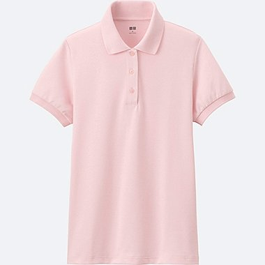WOMEN Stretch Pique Short Sleeve Polo Shirt