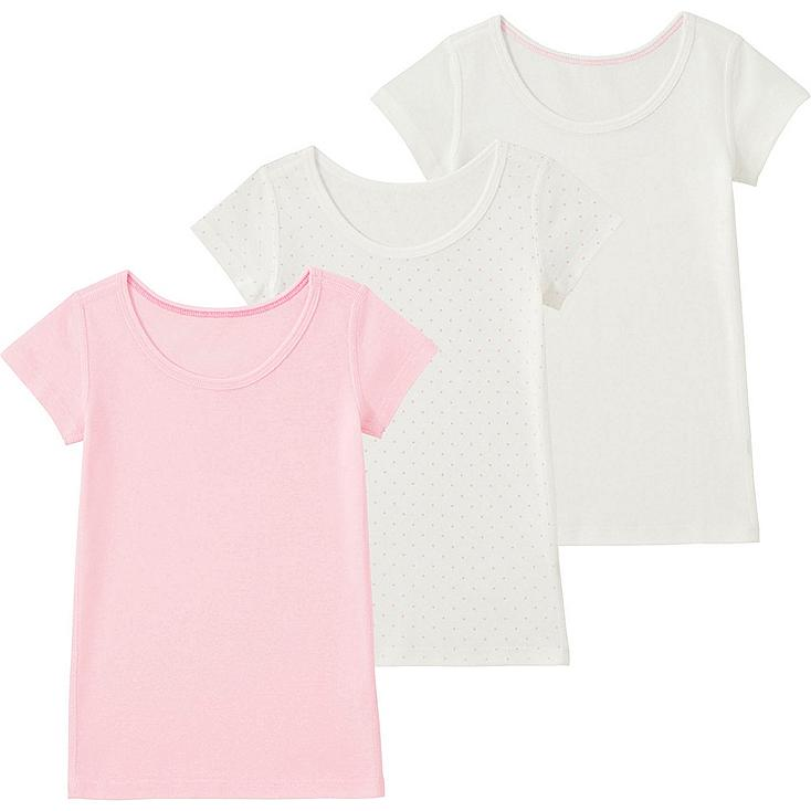 TODDLER Cotton Short Sleeve Inner T-Shirt - 3 Pack
