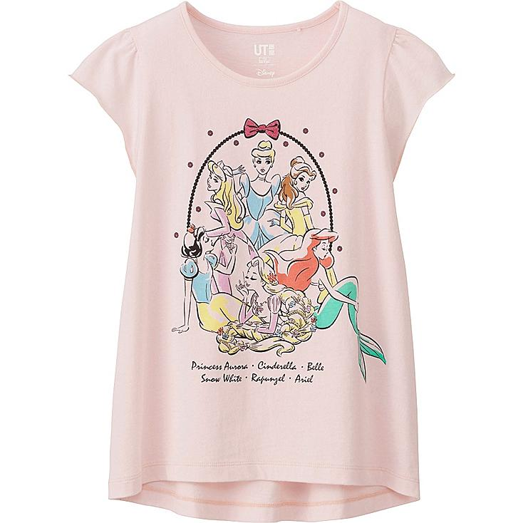 GIRLS DISNEY COLLECTION SHORT SLEEVE GRAPHIC T-SHIRT, PINK, large
