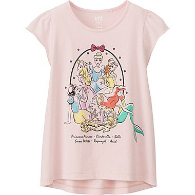 GIRLS DISNEY COLLECTION SHORT SLEEVE GRAPHIC T-SHIRT, PINK, medium