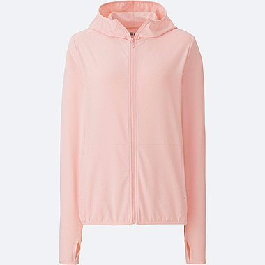 WOMEN AIRism UV Cut Mesh Full Zip Hoodie