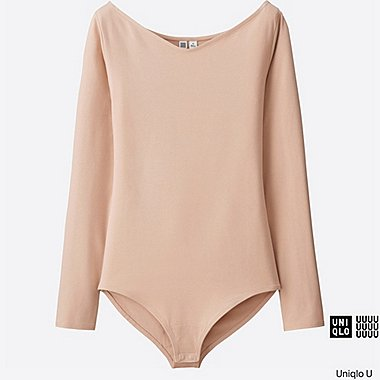 WOMEN Uniqlo U V-Neck Long Sleeve Body