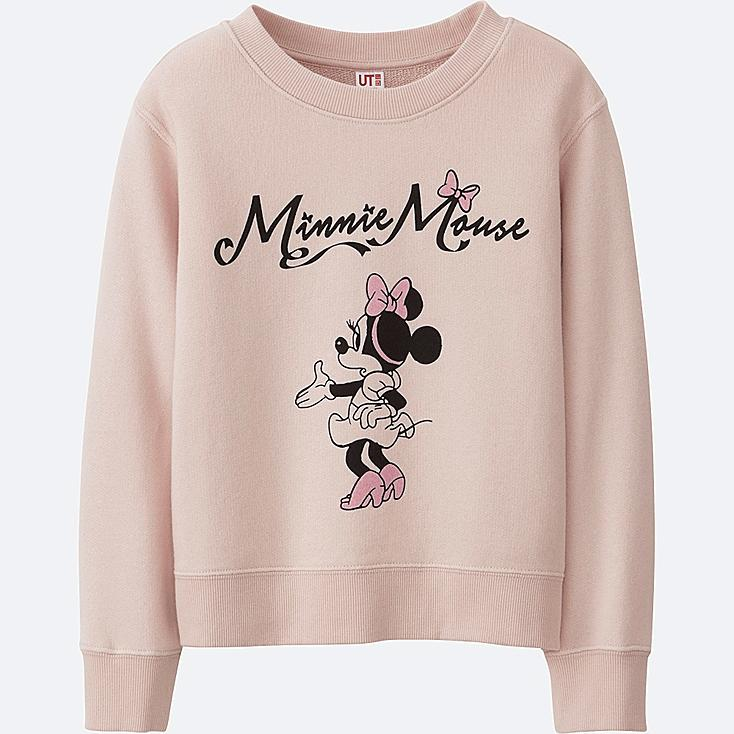 GIRLS DISNEY COLLECTION SWEAT LONG SLEEVE PULLOVER, PINK, large