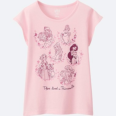 GIRLS DISNEY COLLECTION SHORT SLEEVE GRAPHIC TEES, PINK, medium