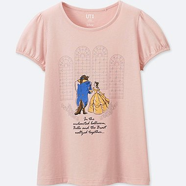 GIRLS Disney Beauty and the Beast GRAPHIC T-SHIRT, PINK, medium