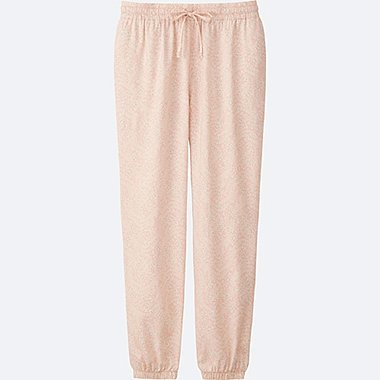 WOMEN DRAPE PANTS, PINK, medium