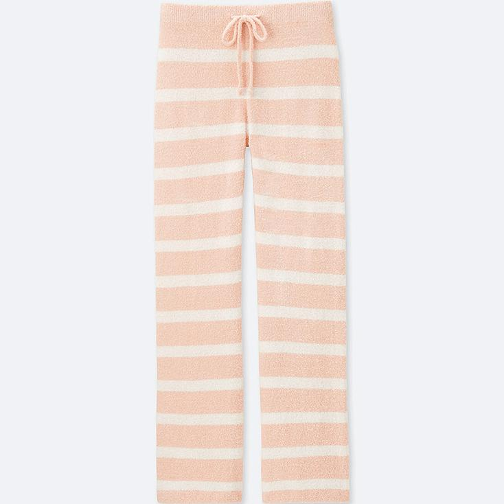 WOMEN FLUFFY YARN LOUNGE PANTS (STRIPE), PINK, large